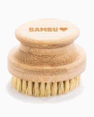 Bambu pesuharja on ekologisista raaka-aineista: varsi on bambua ja harjakset kasvikuitua kaktuksenkaltaisesta meksikolaisesta kasvista.